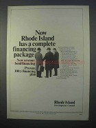 1966 Rhode Island Development Council Ad - Financing
