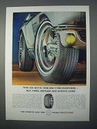 1966 Firestone Super Sports 500 Tire Ad - Sports Cars