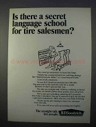 1966 B.F. Goodrich Tires Ad - Secret Language School