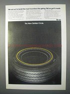 1966 Mobil Golden Circle Tire Ad - Most Luxurious