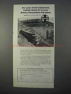 1966 Santa Fe Railway Ad - Your Rotary Convention Plans