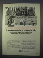 1966 Department of Labor Ad - Takes a Good Education
