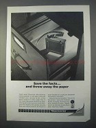 1966 Kodak Recordak Microfilm Ad - Save the Facts