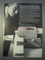 1966 Pitney-Bowes Postage Meter Ad - Sticking Stamps