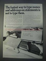 1966 Pitney-Bowes Addresser Printer Ad - Type Names