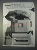 1966 Pitney-Bowes Postage Meter Ad - Actual Size Photo