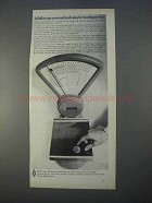 1966 Pitney-Bowes Mail Scale Ad - Wasting Postage
