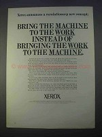 1966 Xerox Copiers Ad - Bring the Machine to The Work
