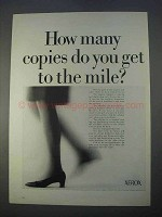 1966 Xerox Copiers Ad - How Many To The Mile?
