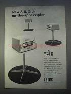 1966 A.B. Dick 610 Copier Ad - On-the-Spot