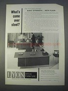 1966 Lyon Office Furniture Ad - What's Come Over Steel