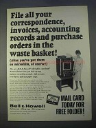 1966 Bell & Howell Microfilm Autoload Reader Printer Ad