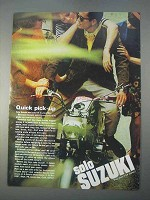 1966 Suzuki Motorcycle Ad - Quick Pick-Up