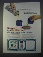 1966 Drano Drain Cleaner Ad - There's An Easy Way