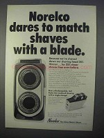 1966 Norelco Close Electric Shave Ad - Dares to Match