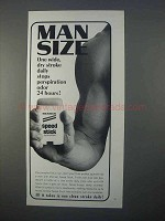 1966 Mennen Speed Stick Deodorant Ad - Man Size