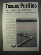 1966 Texaco Oil Ad - Purifies Waste Waters
