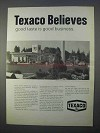 1966 Texaco Oil Ad - Good Taste is Good Business