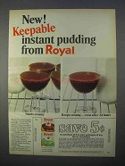 1966 Royal Instant Pudding Ad - Keepable Pudding