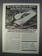 1966 Port Authority City of St. Paul Ad - Steel Mill