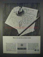 1966 Inland Steel Ad - Until The Architect Comes