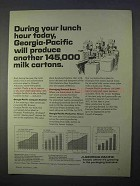 1966 Georgia-Pacific Ad - Another 145,000 Milk Cartons