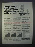 1966 Georgia-Pacific Ad - Grows Super Trees Taller