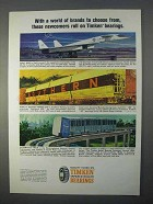 1966 Timken Bearings Ad - World of Brands to Choose