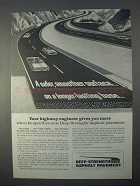 1966 Asphalt Institute Deep-Strength Pavement Ad - Smoother
