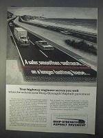 1966 Asphalt Institute Deep-Strength Pavement Ad - Safer