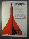 1966 Armco Steel Ad - Beat Lindbergh's Time to Paris