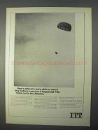 1966 ITT Satellite-Communication Earth Terminal Ad