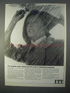 1966 ITT Corporation Ad - Weather Won't be Surprises
