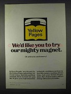 1966 Yellow Pages Ad - Try Our Mighty Magnet