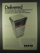 1966 Western Union Ad - Delivered to Dun & Bradstreet