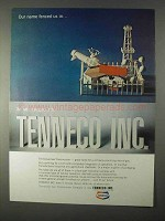 1966 Tenneco Inc. Ad - Our Name Fenced Us In