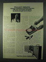 1966 Panasonic RQ-3100 and RS-755 Tape Recorder  Ad