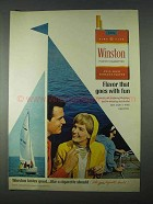1966 Winston Cigarettes Ad - Flavor Goes With Fun
