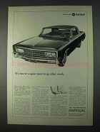 1966 Chrysler Imperial Car Ad - Quiet Spot To Go