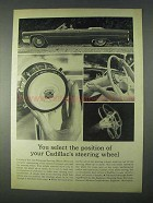 1966 Cadillac Tilt and Telescope Steering Wheel Ad