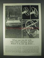1966 Chevrolet Tilt and Telescope Steering Wheel Ad