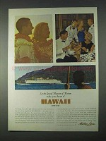 1966 Matson Lines Ad - Dream of Hawaii Come True