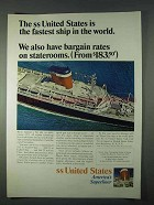 1966 United States Lines Ad - Bargain Rates Staterooms