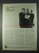 1966 Merrill Lynch Ad - Many Banks Do Business With