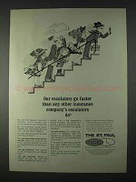 1966 The St. Paul Insurance Companies Ad - Escalators