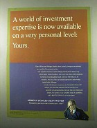 1999 Morgan Stanley Dean Witter Ad - Personal Level
