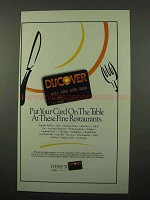 1994 Discover Credit Card Ad - These Fine Restaurants