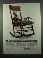 1989 Dreyfus Retirement Ad - Not Idea of Comfortable