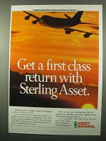 1987 Abbey National Ad - First Class Return