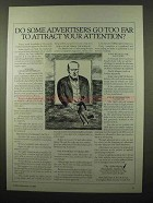 1984 The Advertising Standards Authority Ad - Too Far